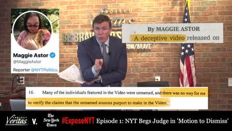 New York Times Begs Court to Dismiss Veritas Defamation Lawsuit