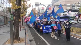 Election 2020: People in Japan demonstrating for Donald Trump