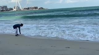 Dubai Eye Beach With big Waves