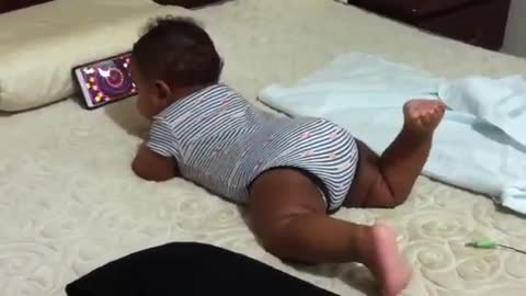 only 3 month and watching cartoons