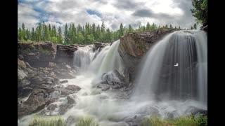 Waterfall in wonderful Nature