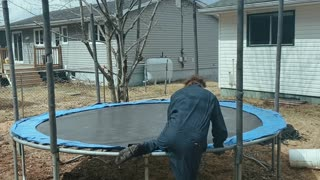 Michael Myers breaks COVID Quarantine to Bounce on a Trampoline