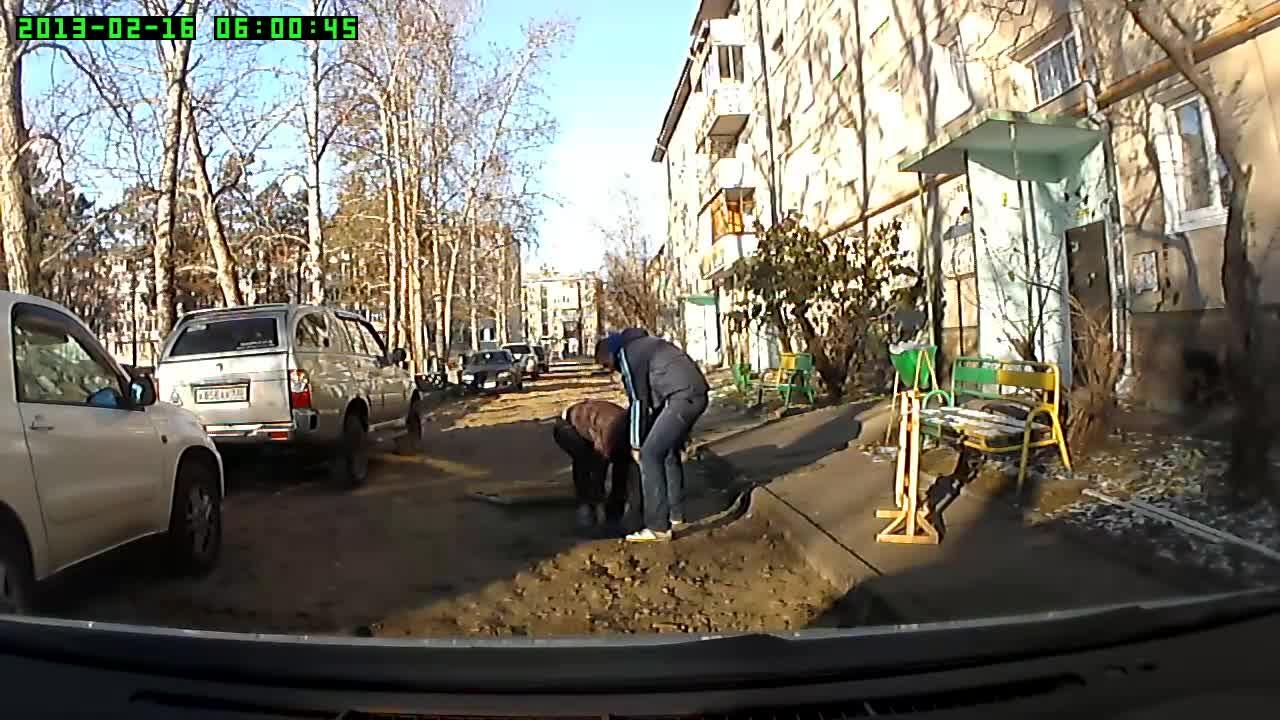 Han skulle bare fjerne hindringen fra veien