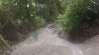 Waterfalls climbing in Aguinid Falls