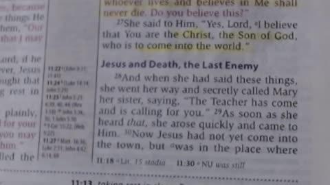Jesus & Death, the last enemy - John 11:28-37 NKJV