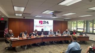 D 214 School Board Meeting 4 Aug 2021