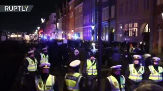 Hundreds march through Copenhagen to protest Covid-19 lockdown plans