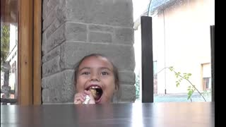 Little Girl Hilarious Funny Messy Moments Eating Ice Cream