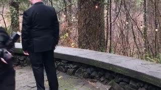Hilarious First Look Wedding Surprise