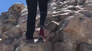 cojo climbing a mountain in arizona