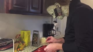Michael Myers Making a pizza