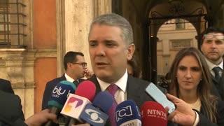 Iván Duque visita el senado italiano