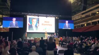 WATCH: Crowd ERUPTS in Boos When Romney Takes Stage at Utah GOP