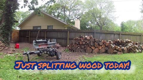 Making progress on the firewood in my back yard.