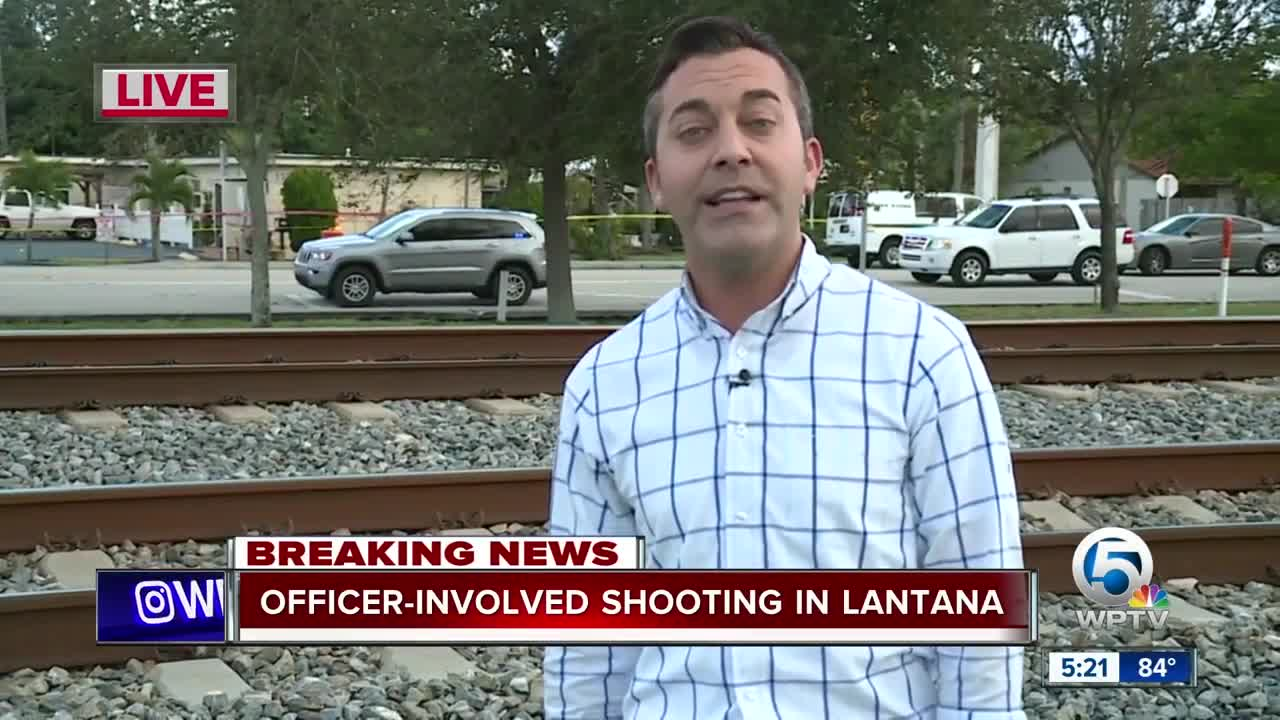 Police on scene of officer-involved shooting in Lantana