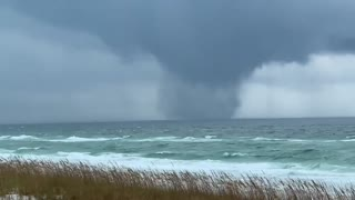 Massive waterspout captured on camera forming over the gulf