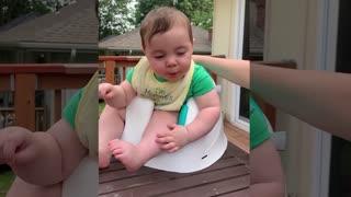 Funny Babies Emotion When First Eat Lemon