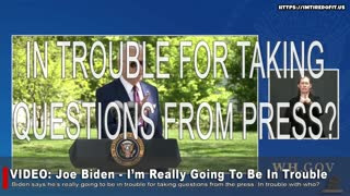 """BIDEN: """"I'm Really Going To Be In Trouble."""""""