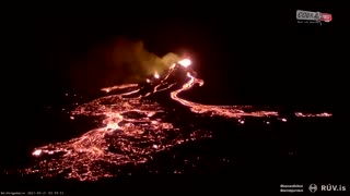 Dangerously Close To Erupting Volcano, Captures Stunning Footage