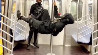Train Man Dances On Train