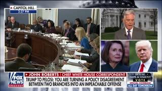 President Trump Attacks Nancy Pelosi In Letter On Impeachment