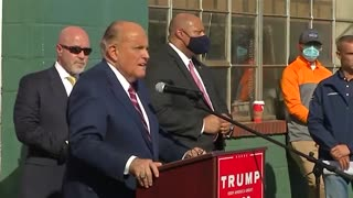 Pennsylvania Conference Giuliani Comments after Poll Watchers Speak