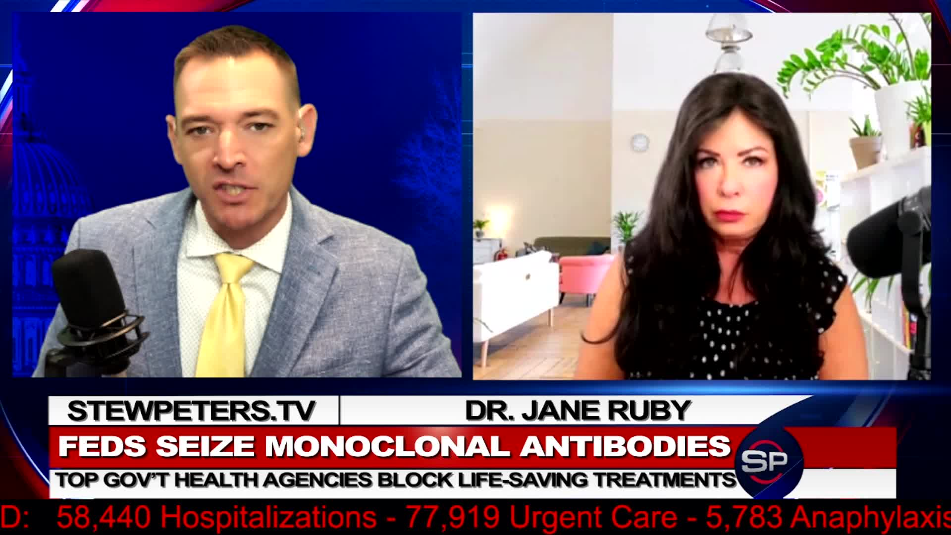 Stew Peters: Feds (Biden) Seize Monoclonal Antibodies! Life-Saving Treatments Banned! - Must Video