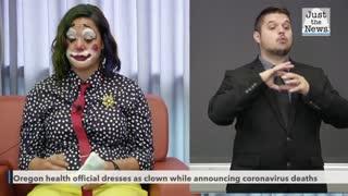 Oregon health official dresses as clown while announcing coronavirus deaths