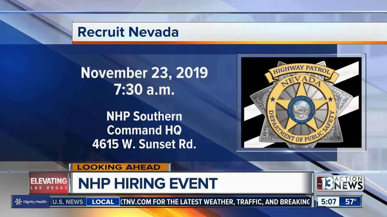Nevada Highway Patrol hiring event on Saturday