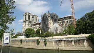 Reconstrucción de Notre Dame en París