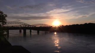 Sunset Over Bridge Downtown Kansas City