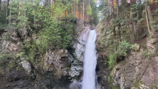 Relax with beautiful sound Cascade waterfall in the beautiful British Columbia Canada