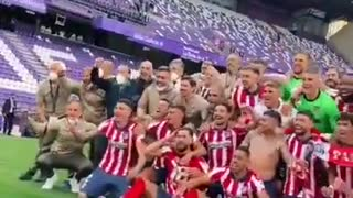 Atletico Madrid Celebration After Winning The La Liga Title 2021