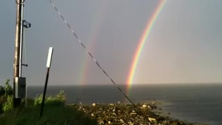 THE ENDS OF A DOUBLE RAINBOW! AMAZING!!