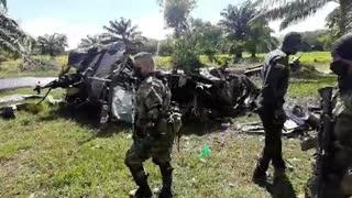 Video: Cinco muertos dejó el accidente de un helicóptero en el Sur de Bolívar