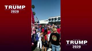 Insane crowds! President Trump visits Newport Beach, CA 10/17/2020