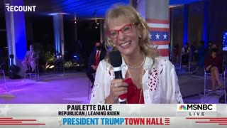 NBC Townhall Questioner Tells Trump He Has a Great Smile