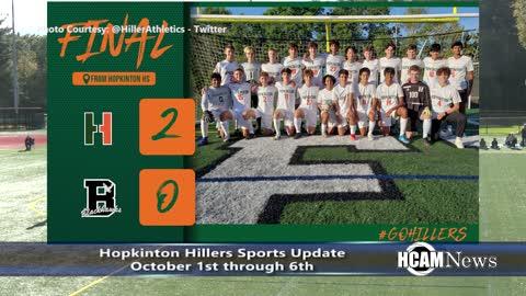 Hopkinton Hillers Sports Update 10-6-2021