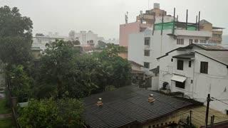 Heavy rain n wind