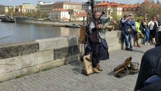 One man band in Prague