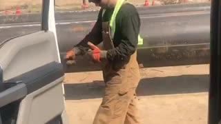 Construction worker kiki in my feelings challenge