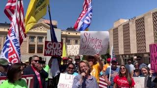 Sen. Wendy Rogers With Arizona Patriots At State Capitol To Demand Election Security