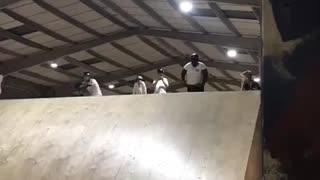 Over weighted flip Challenger Skateboard Ramp