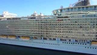 Cruise ship departing Port Canaveral