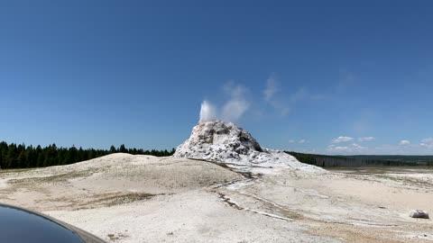 White Dome Geyser Yellowstone