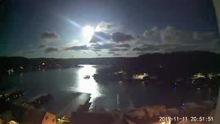 Meteor Shooting Across Sky Above Lake of the Ozarks