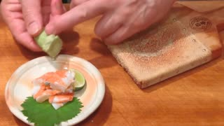 cuisine of the bear Shrimp (reed shrimp