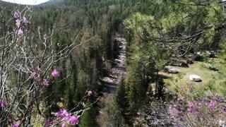 "Вид на реку Олха со скальника ""Витязь"""