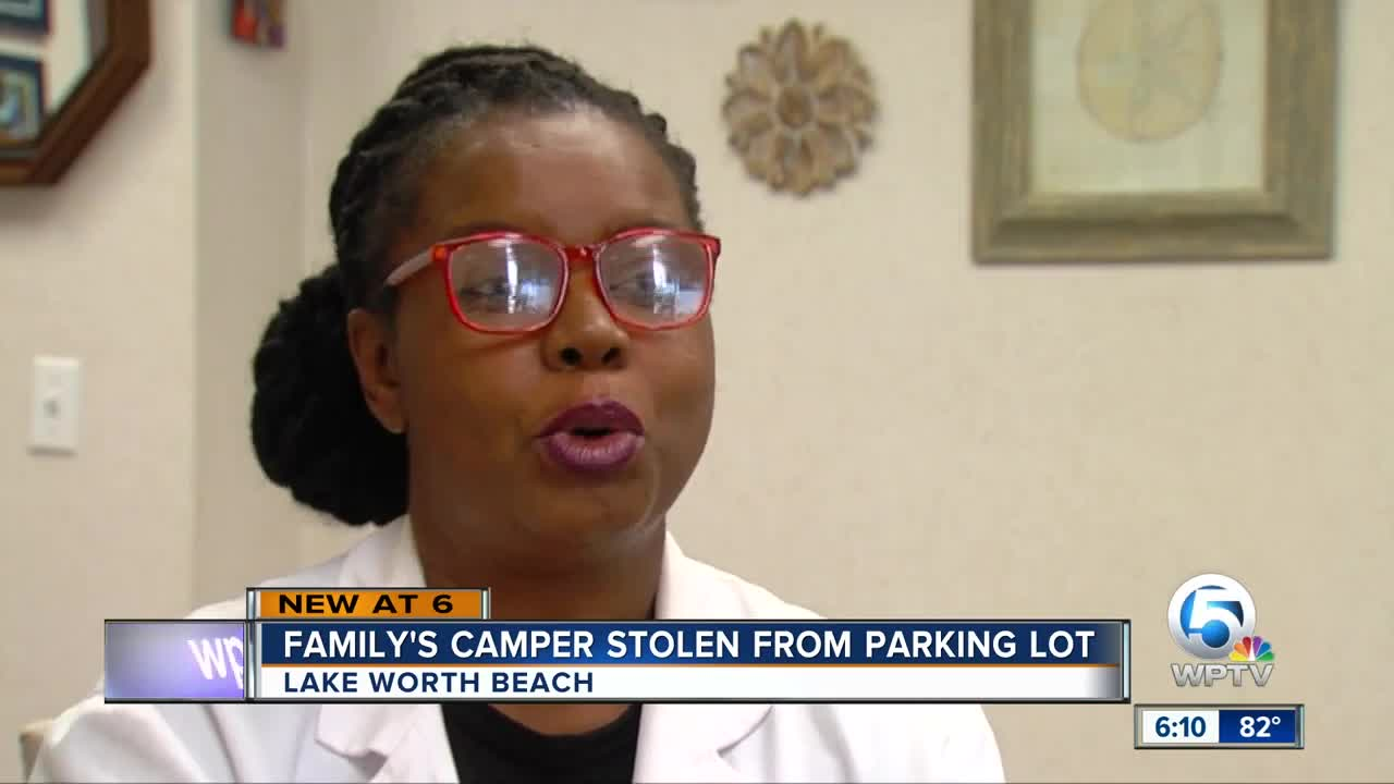 Family's camper stolen from parking lot