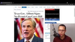 Governor Abbott SIGNS Constitutional Carry Bill Into Law